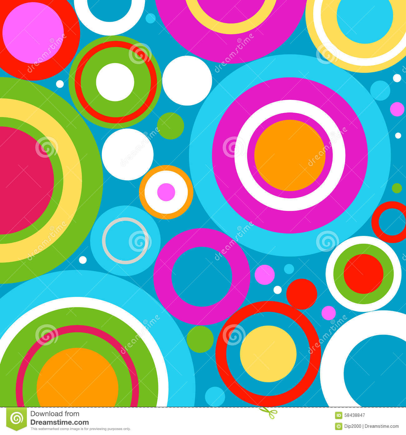 Abstract Background With Retro Circles Stock Vector