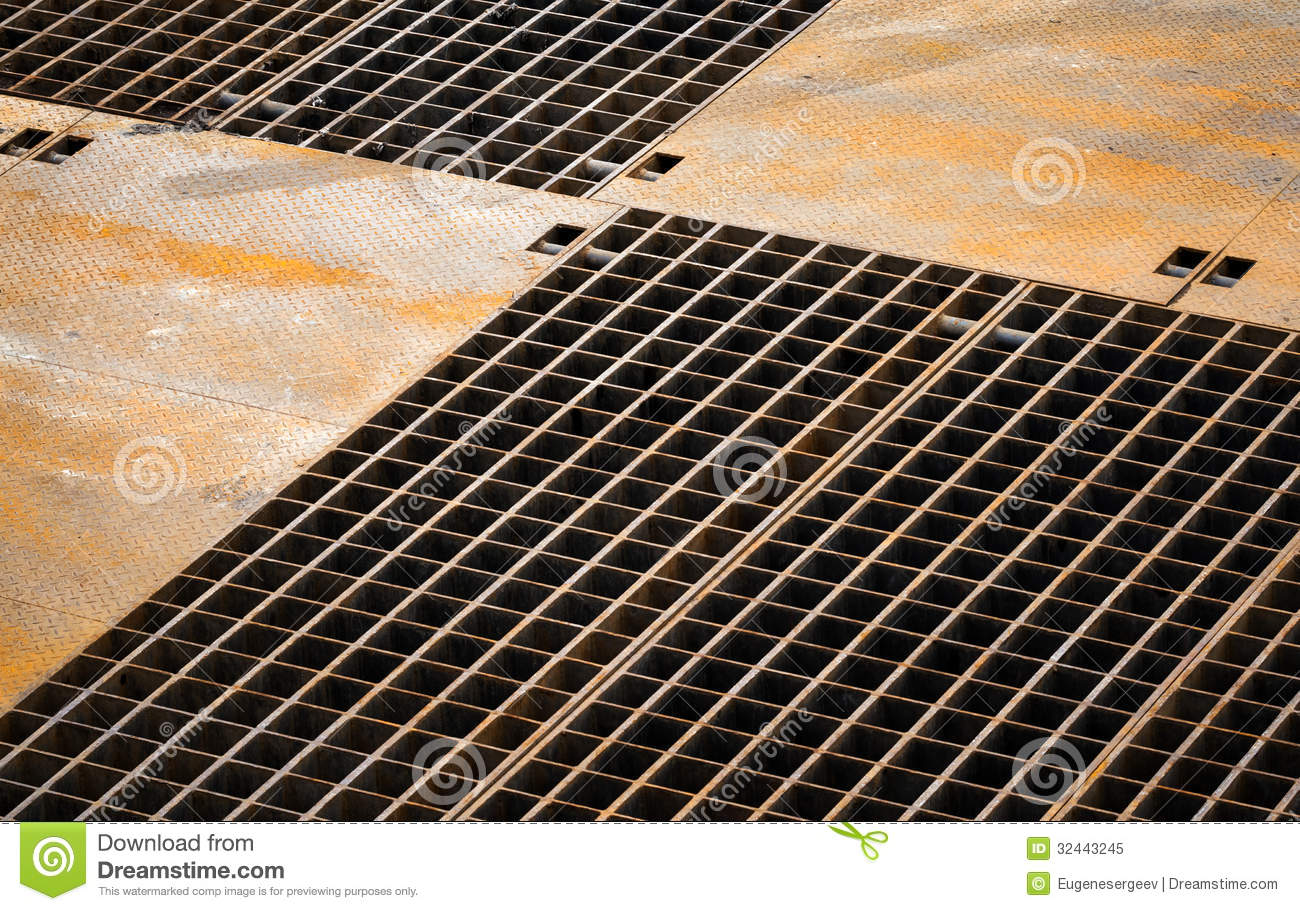 Abstract Background With Rusted Metal Floor Stock Image