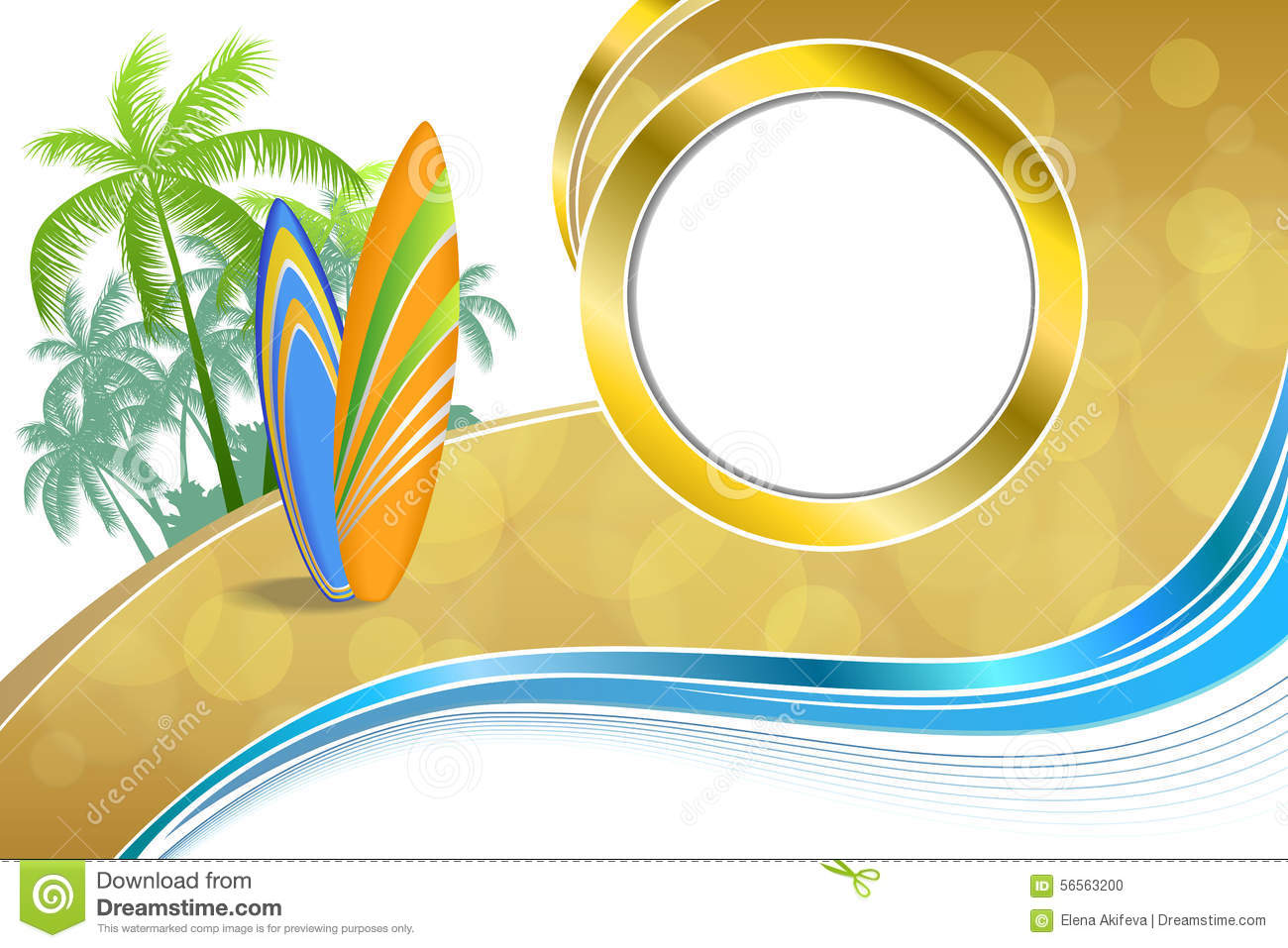 Abstract Background Sea Coast Holidays Design Orange Green ... for Yellow Vector Graphics Design Background  584dqh