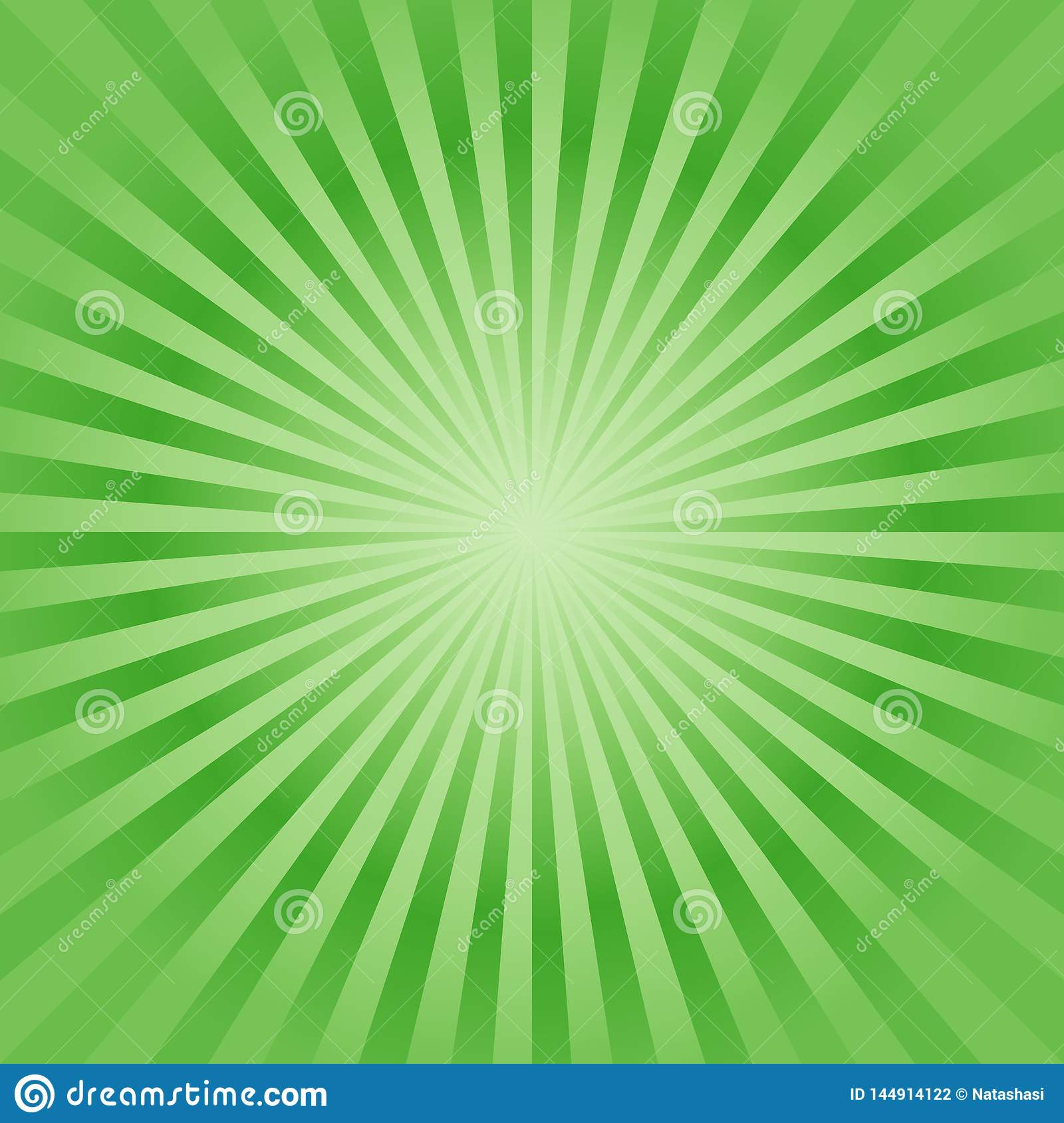 Abstract background. Soft Bright Green rays background. Vector