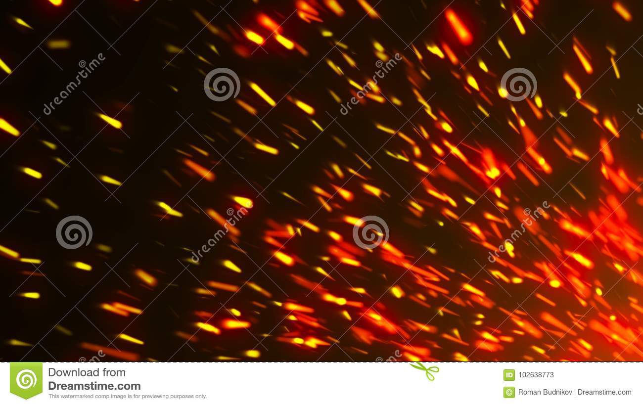 Abstract background with sparks. 3d rendering backdrop