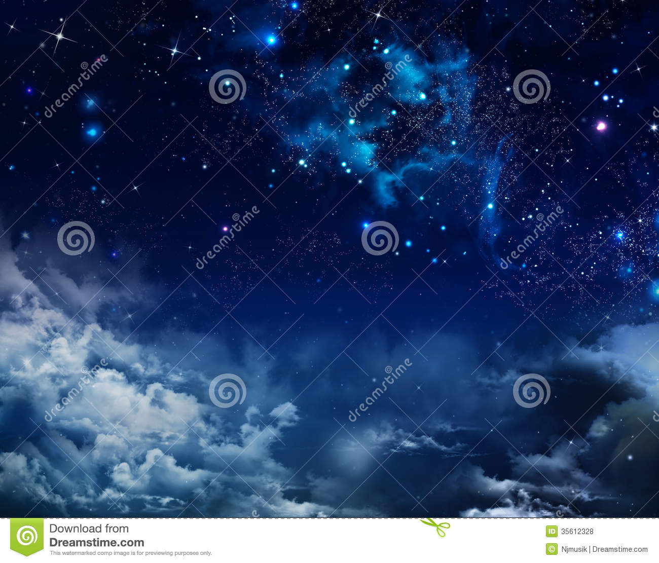 Abstract background starry sky