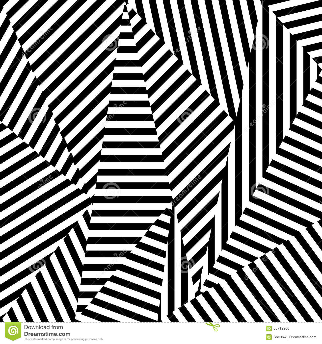 Abstract background of striped shapes stock vector for Black and white shapes