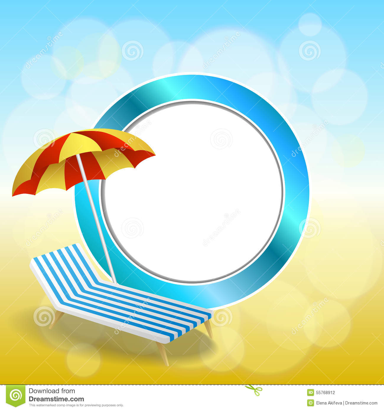 Beach chair and parasol vector illustration stock vector image - Abstract Background Summer Beach Vacation Deck Chair Red