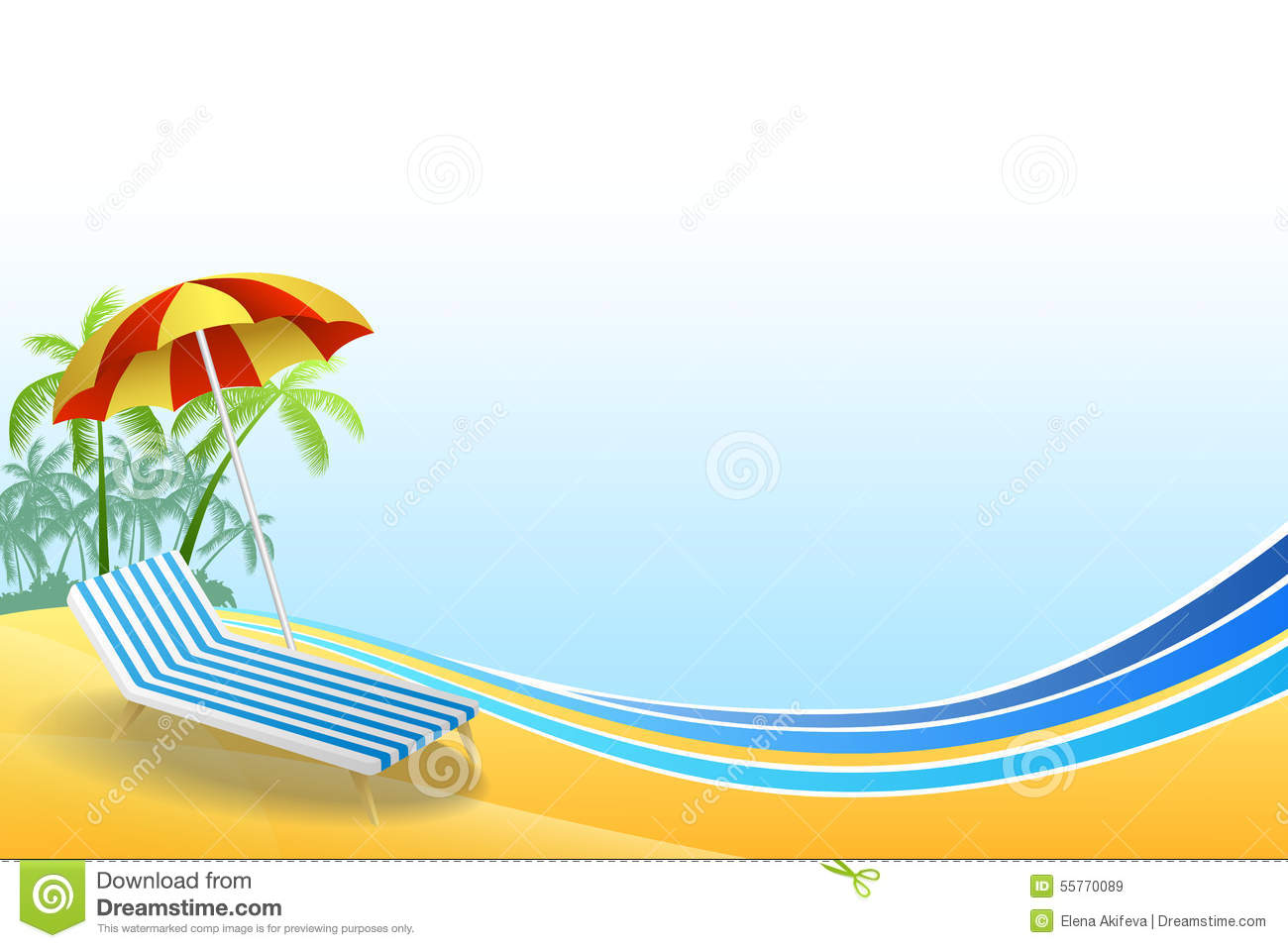 Abstract Background Summer Beach Vacation Deck Chair Red ...