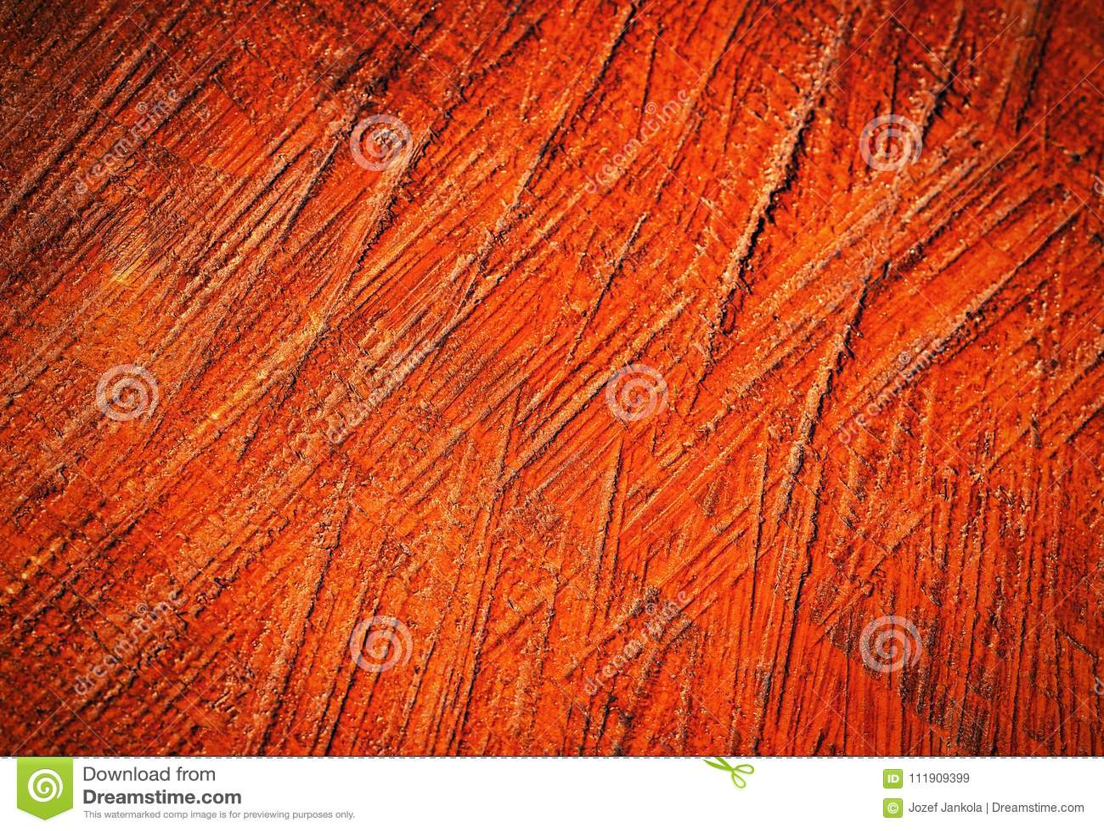 Brown painted scraped wood