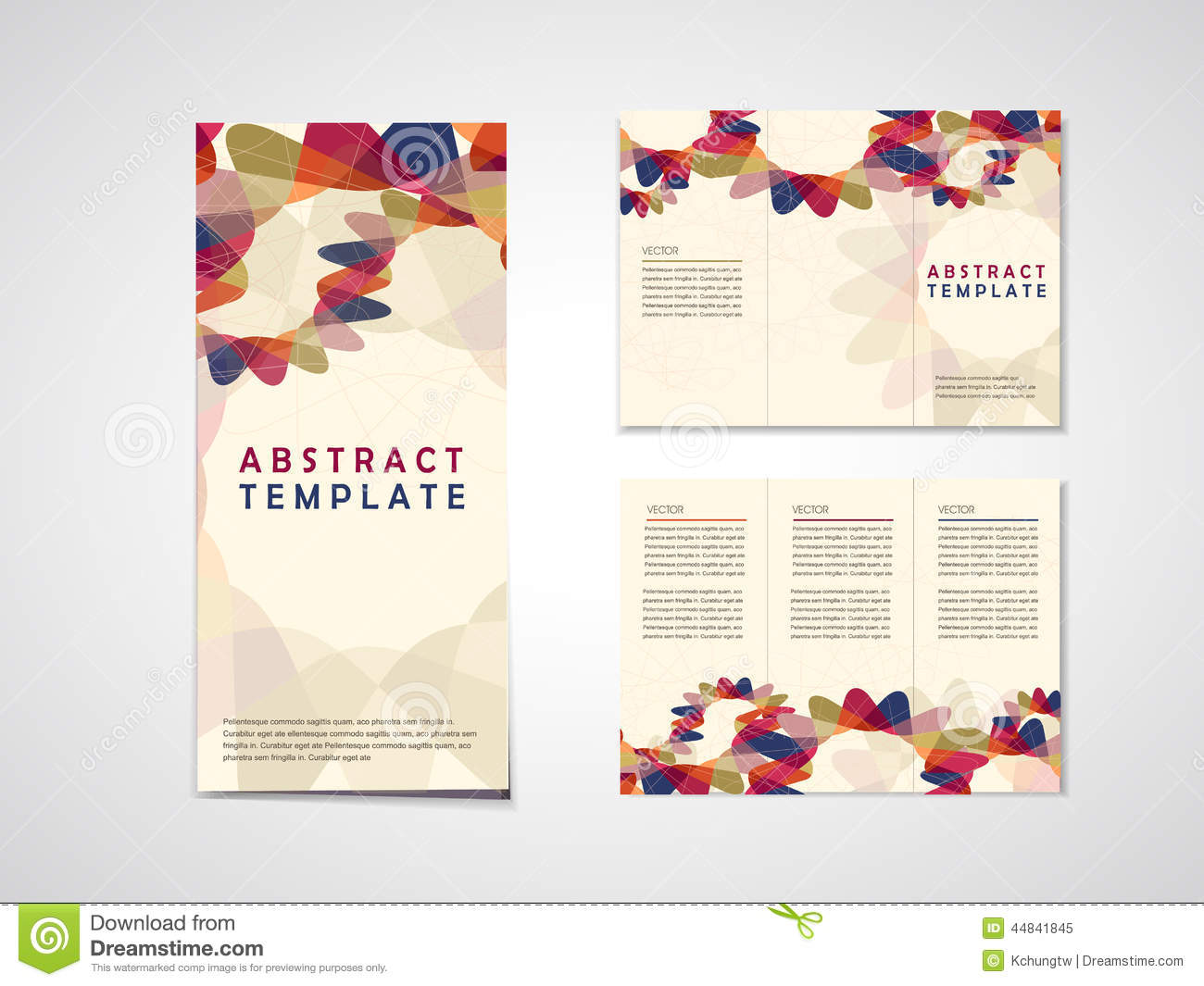 abstract background tri fold brochure template stock