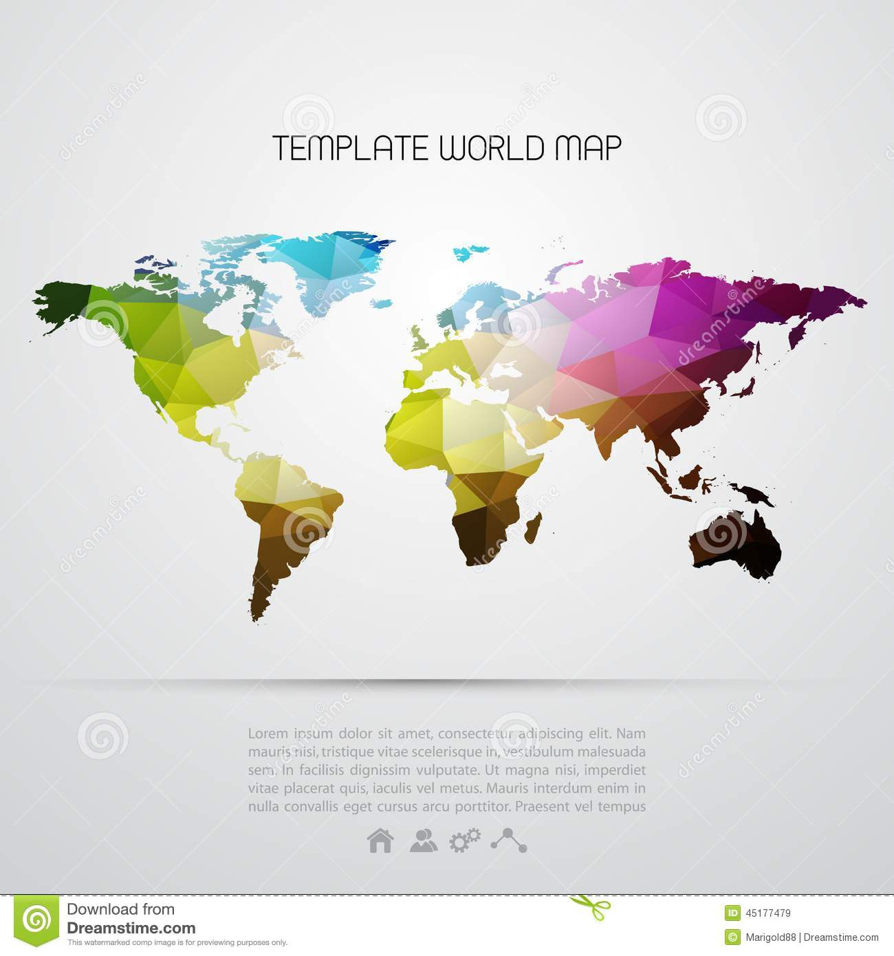 abstract background with vector world map stock vector
