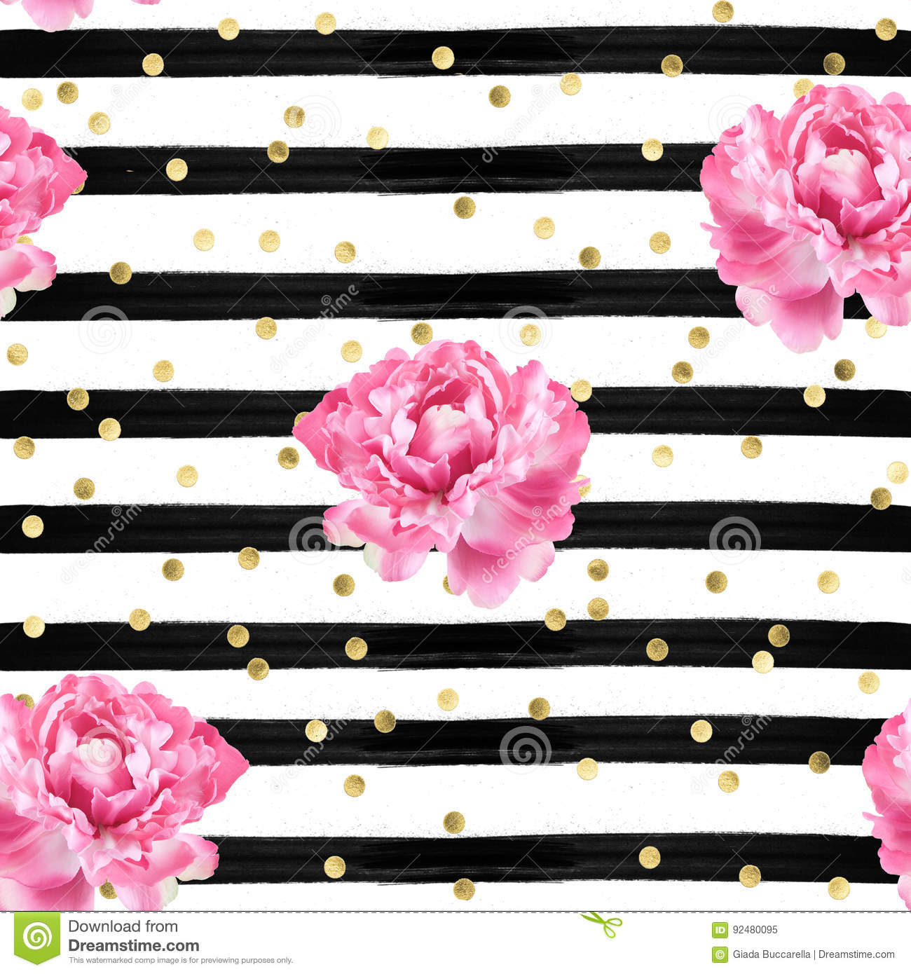 Abstract Background Watercolor Stripes Gold Confetti And