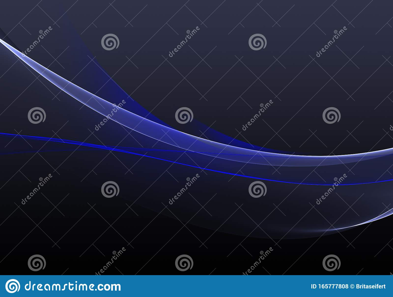 Abstract Background Waves Black And Blue Abstract Background For