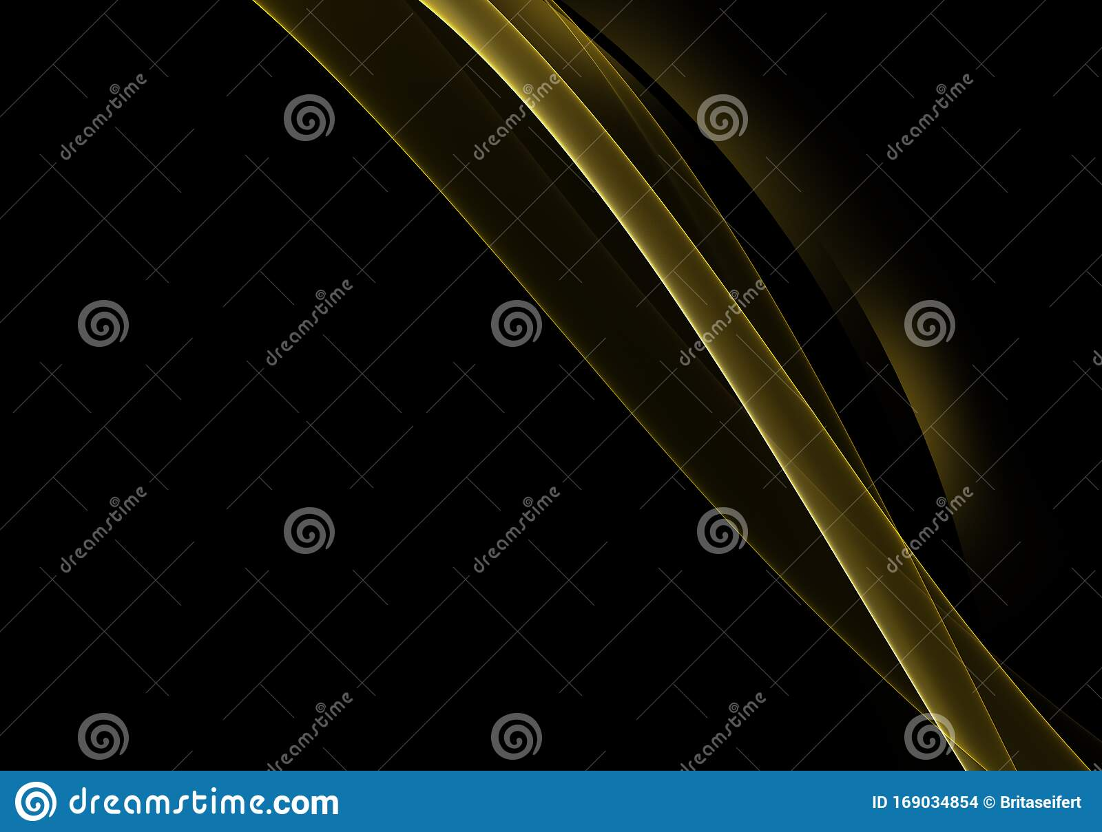 Abstract Background Waves Black And Golden Yellow Abstract