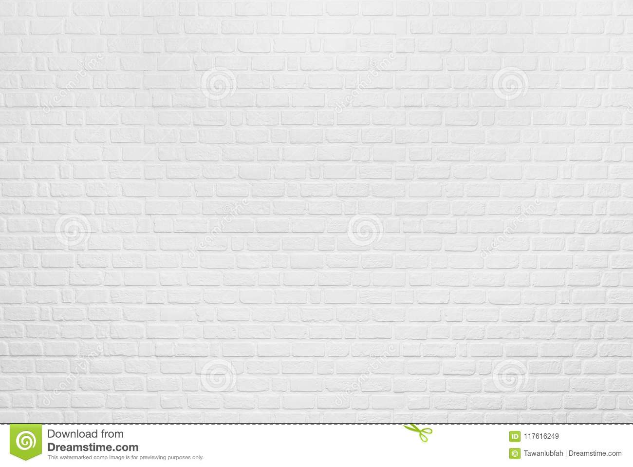 Abstract background from white clean brick pattern on wall. Vintage and retro backdrop. Picture for add text message. Backdrop