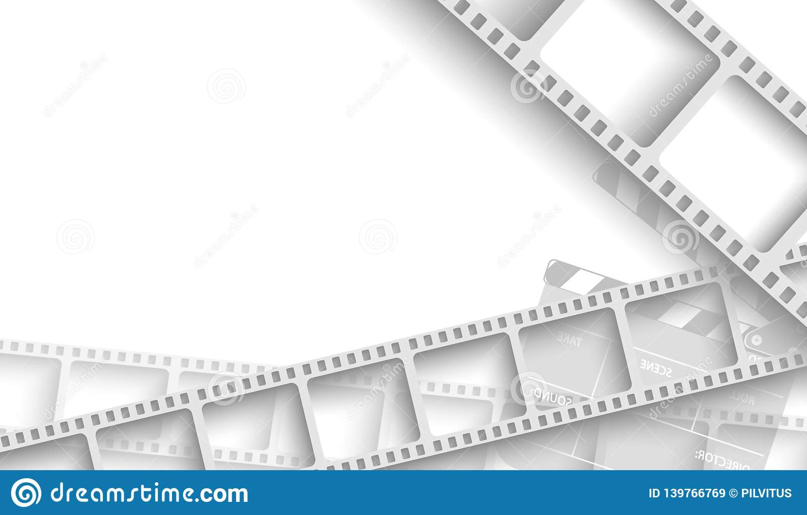 abstract background with white film strip frame and clapper board isolated on white background design template cinema with space stock vector illustration of festival film 139766769 https www dreamstime com abstract background white film strip frame clapper board isolated design template cinema space your text movie image139766769