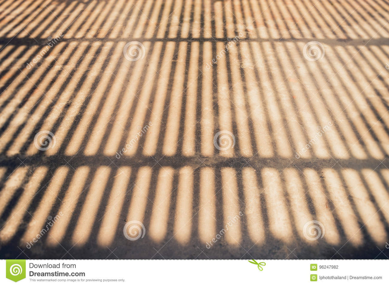 Abstract Background Of A White Wall With Blind Shadow From The W