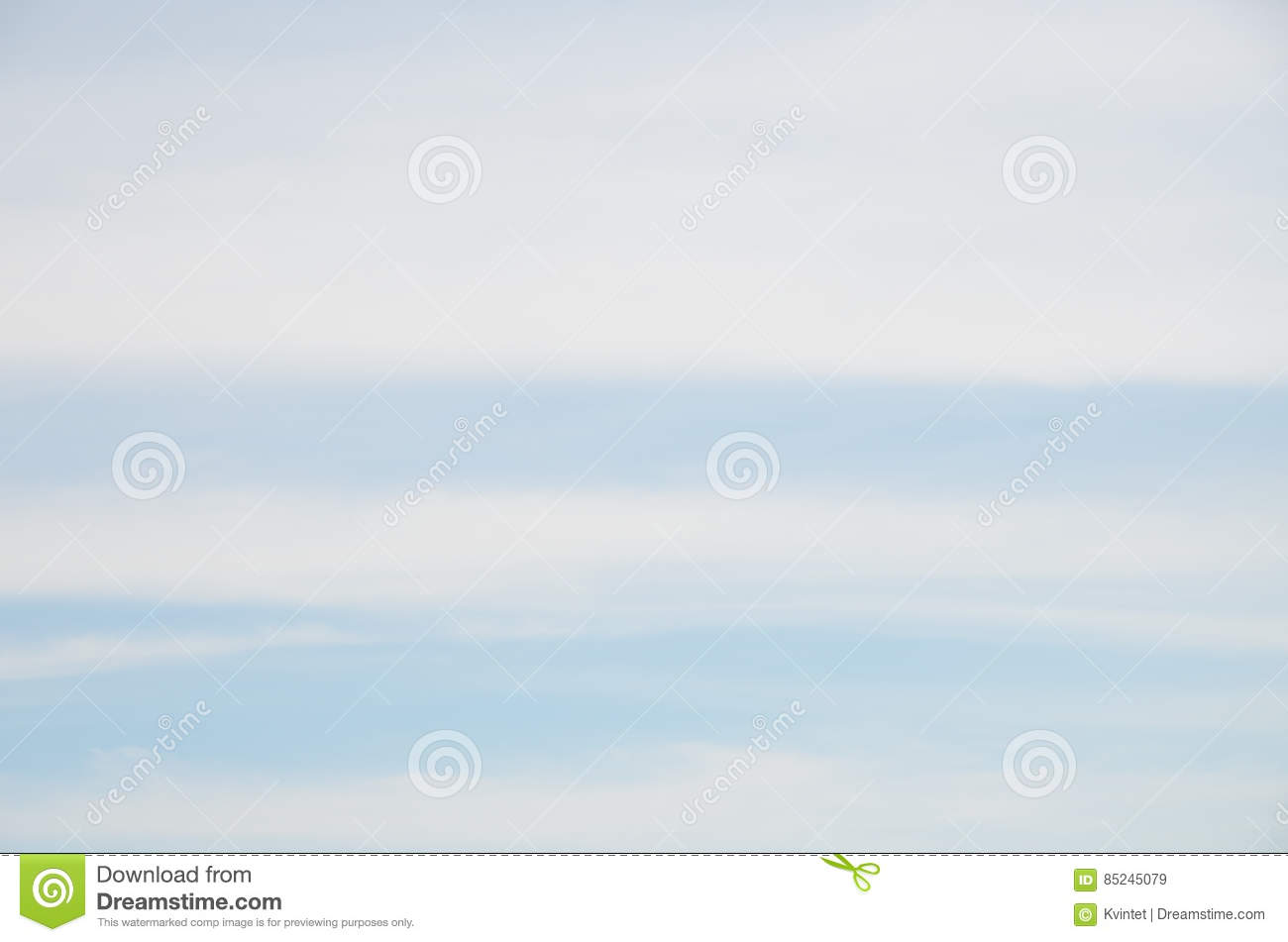 Abstract background of wide stripes white clouds on blue sky