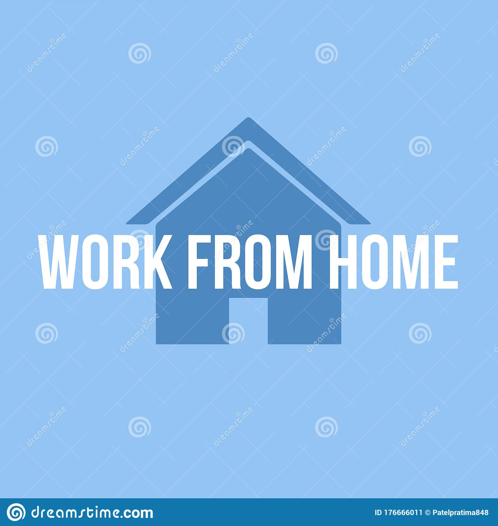 Abstract Background Of Work From Home Job Quarantine Stay Home Safe Graphic Design Illustration Wallpaper Stock Illustration Illustration Of Graphic Home 176666011