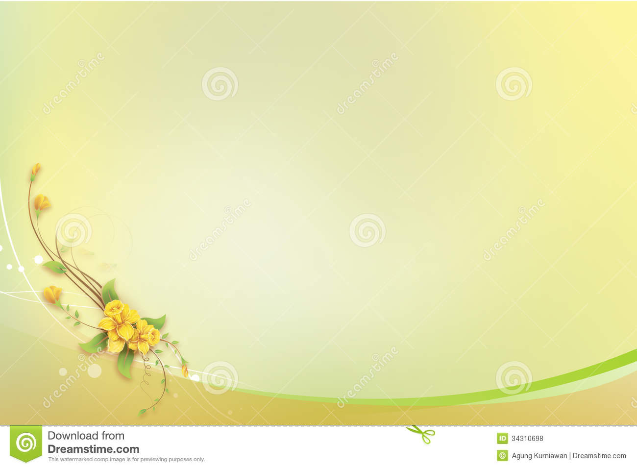download abstract background with yellow flower for greetin stock illustration illustration of greetings designs