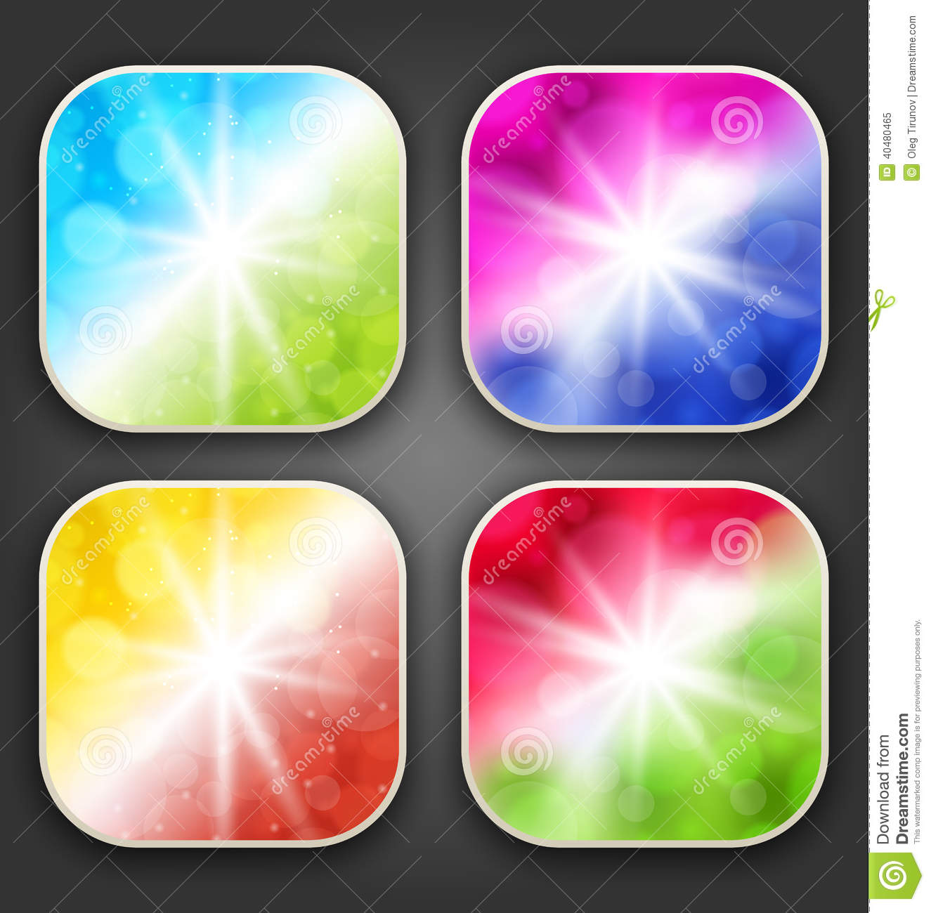 Abstract Backgrounds With For The App Icons Stock Vector