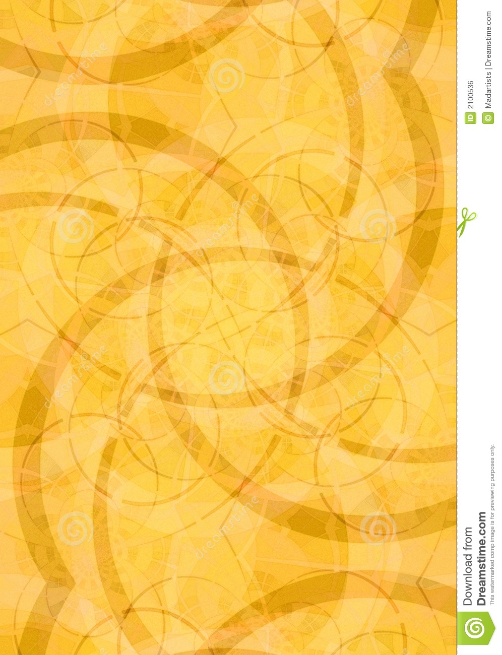 Abstract Backgrounds in Gold