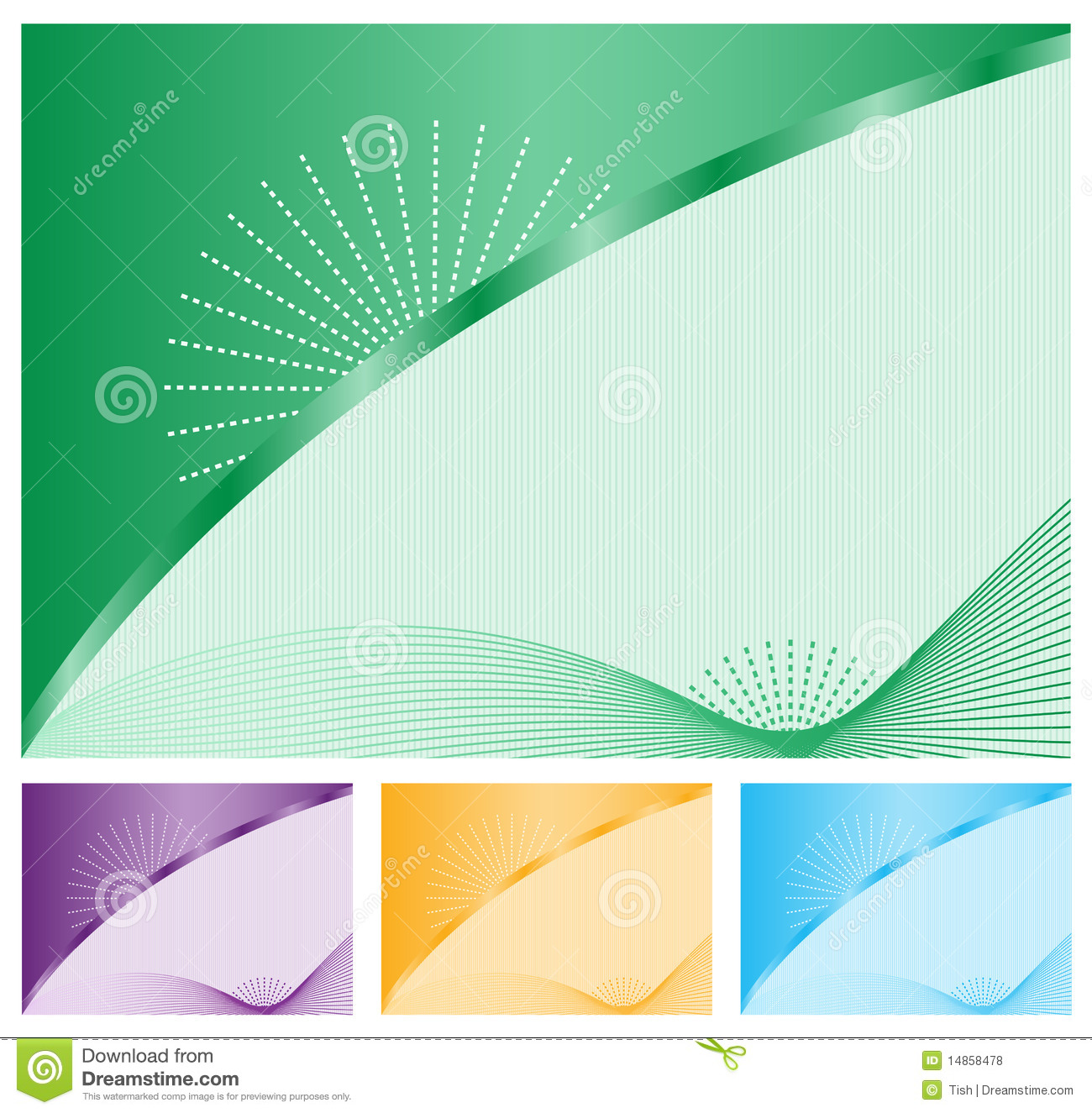 Abstract backgrounds set of four