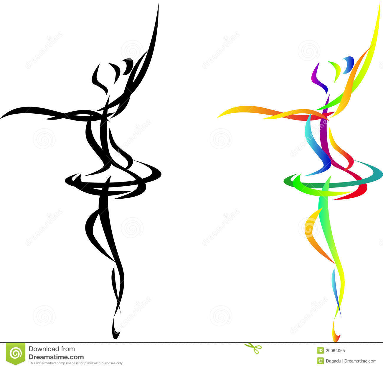 Abstract Ballet Dancer Stock Vector Illustration Of