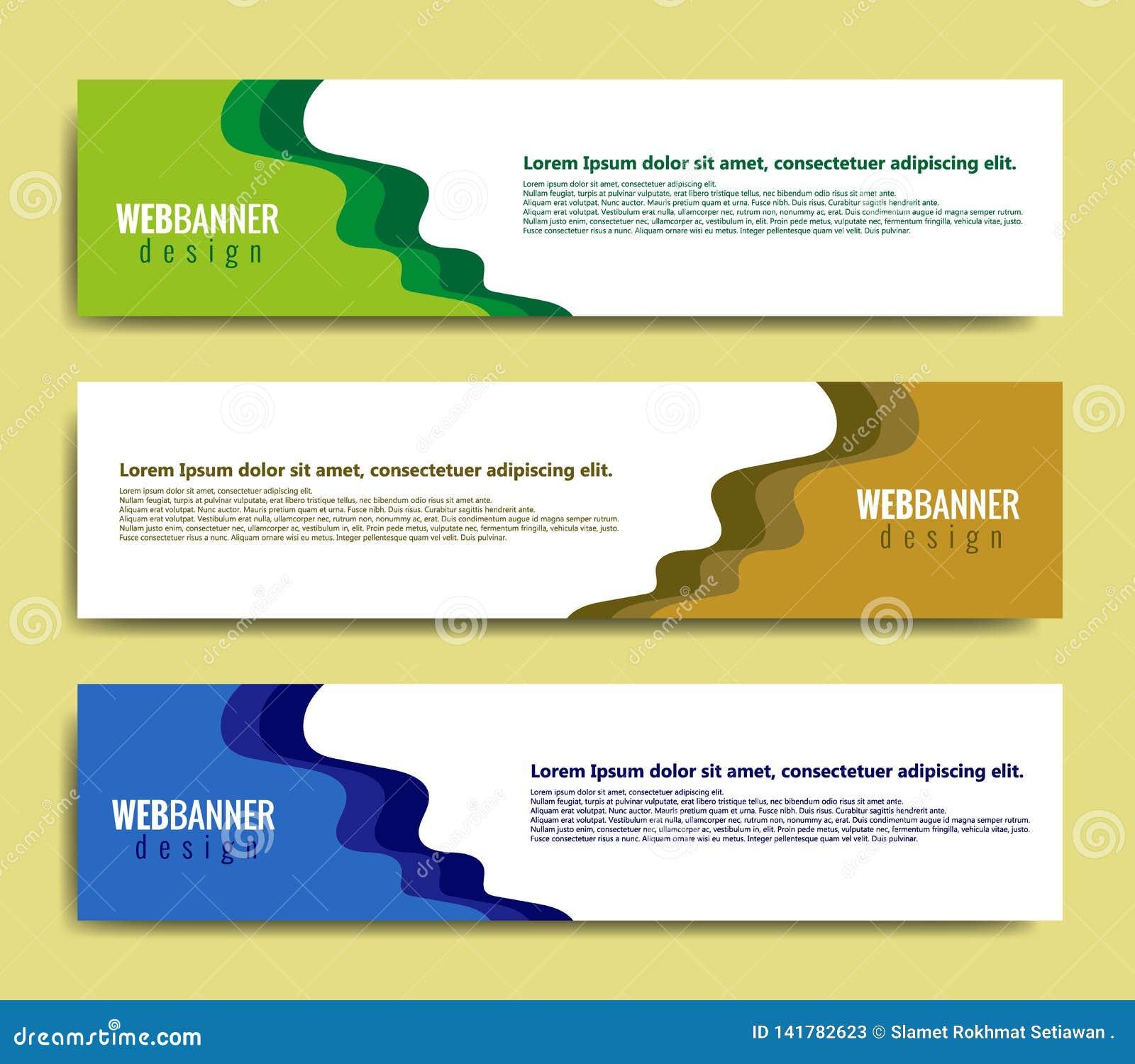 Abstract bannerontwerp, modern Webmalplaatje, promotiebannerontwerp