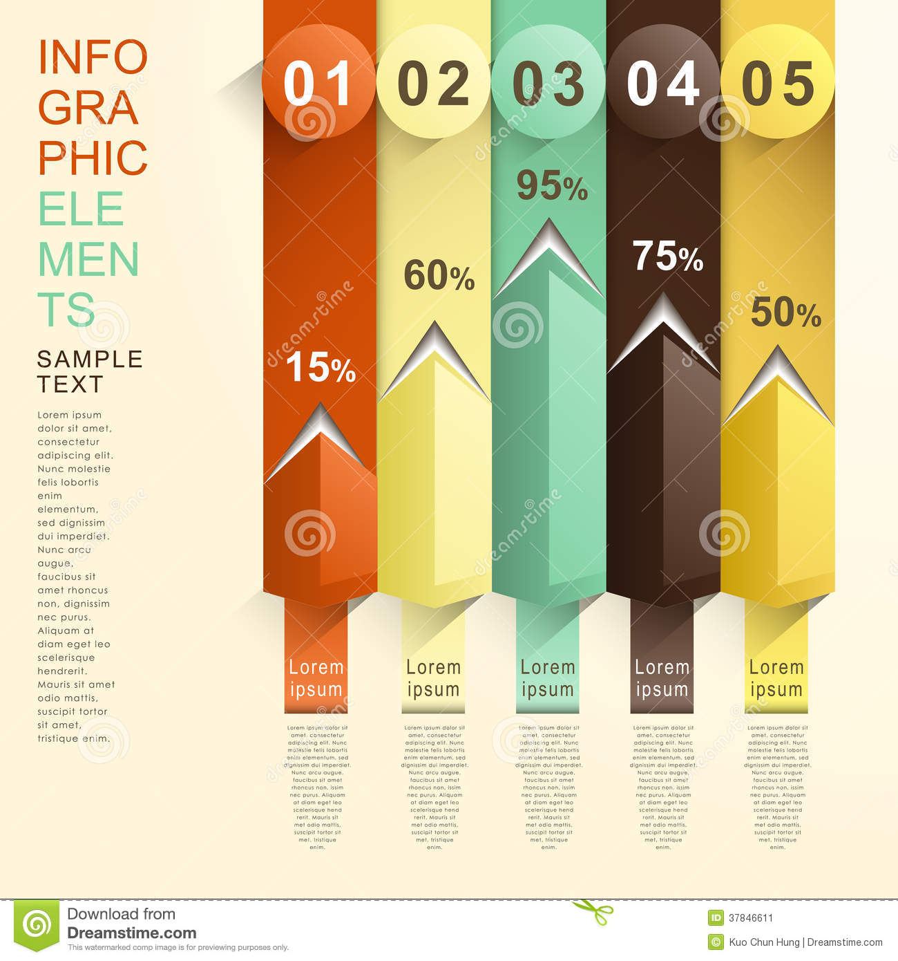 abstract bar chart infographics stock vector - illustration of