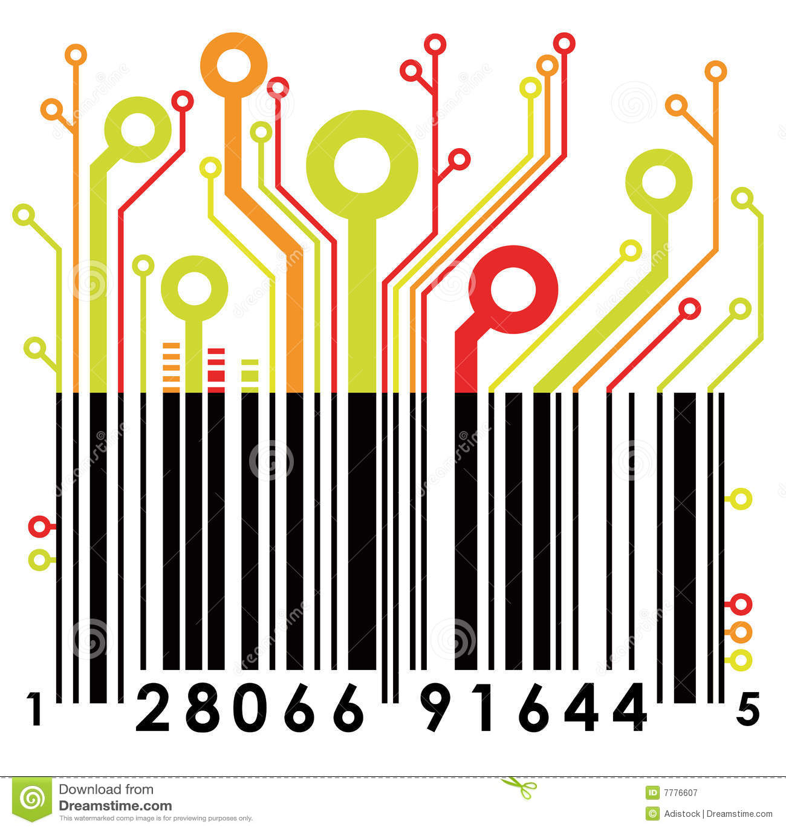 Abstract barcode. Vector.
