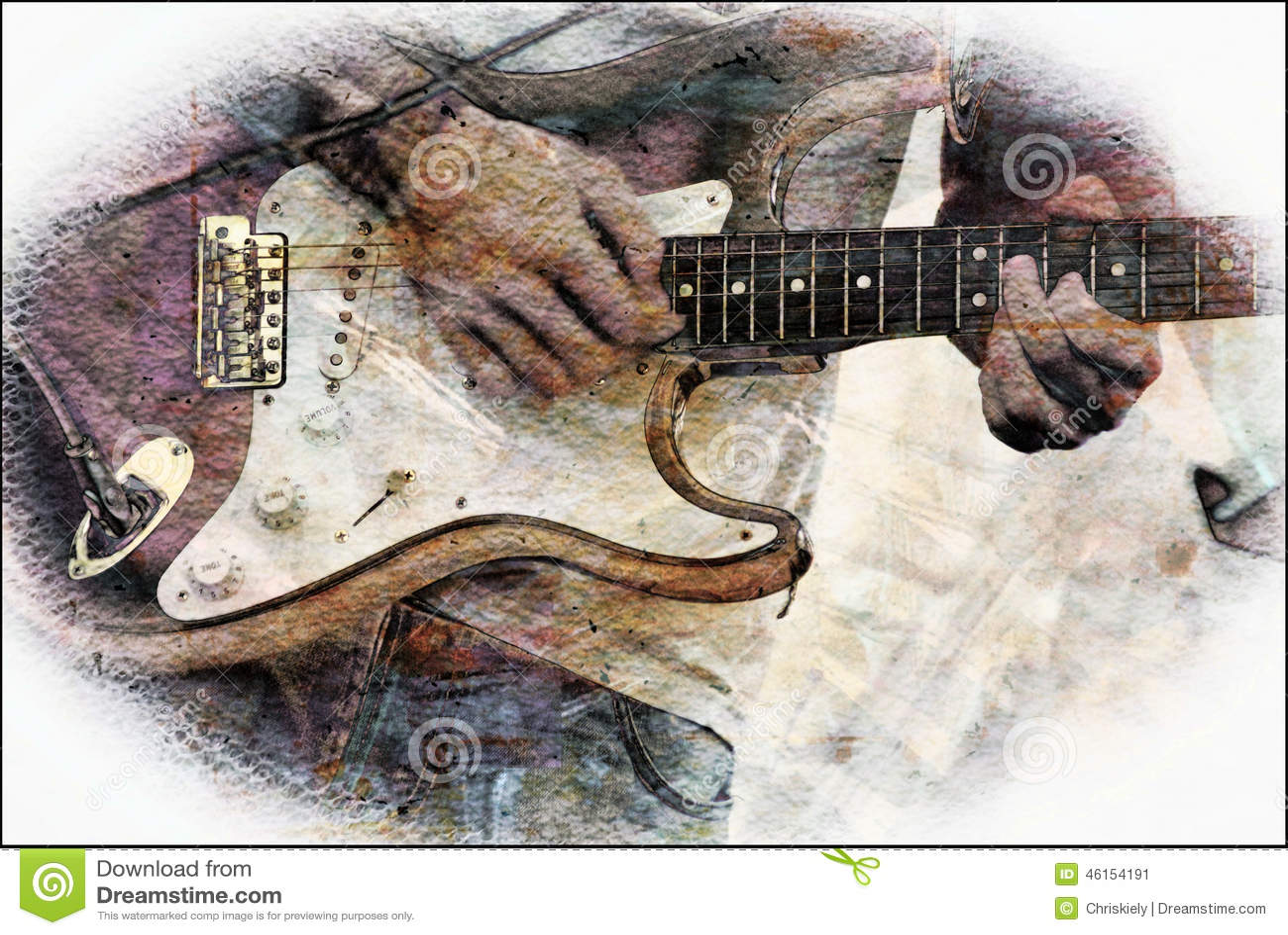 Abstract Bass Guitar