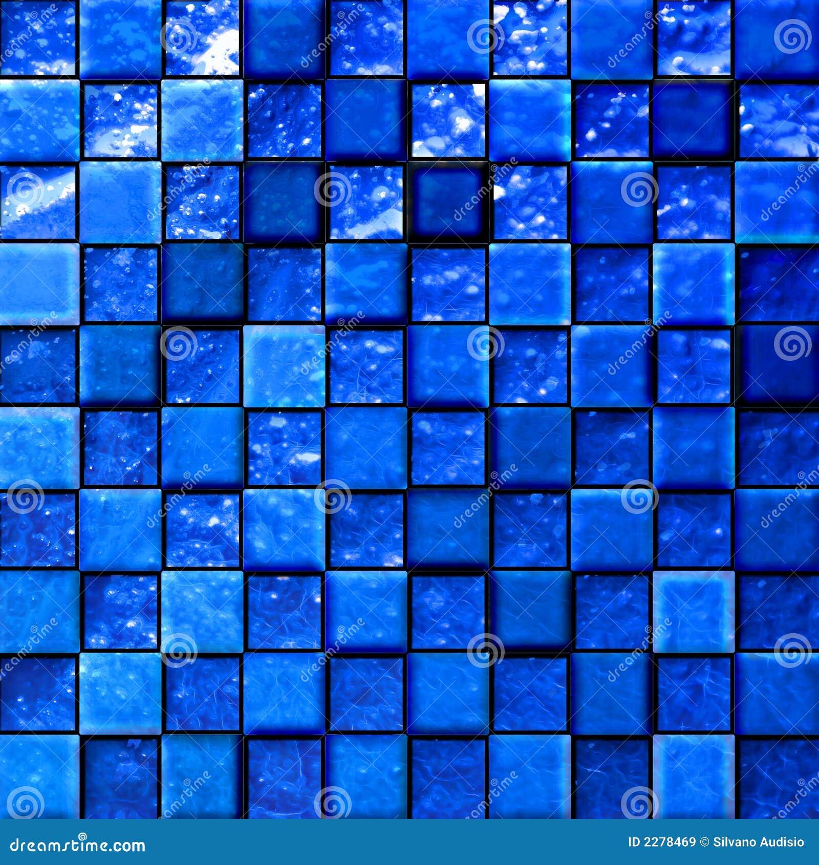 Abstract bathroom s tiles blue
