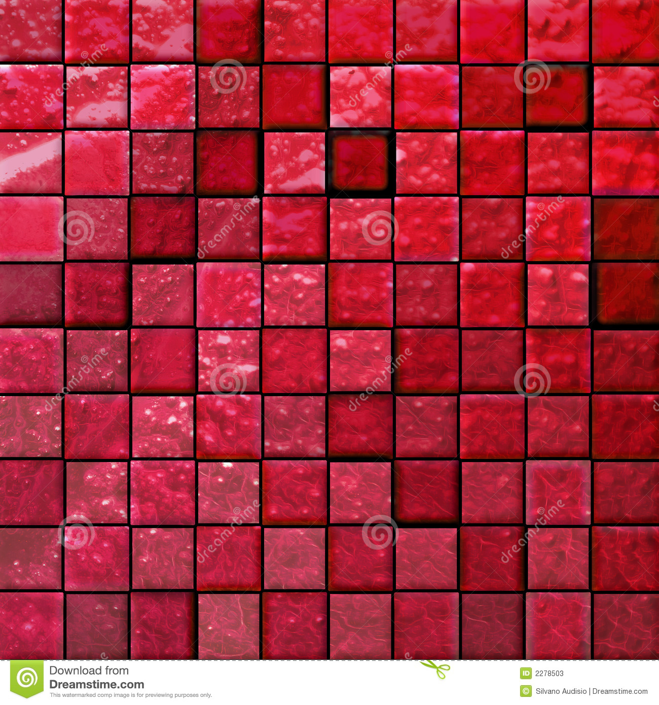 Abstract bathroom s tiles red