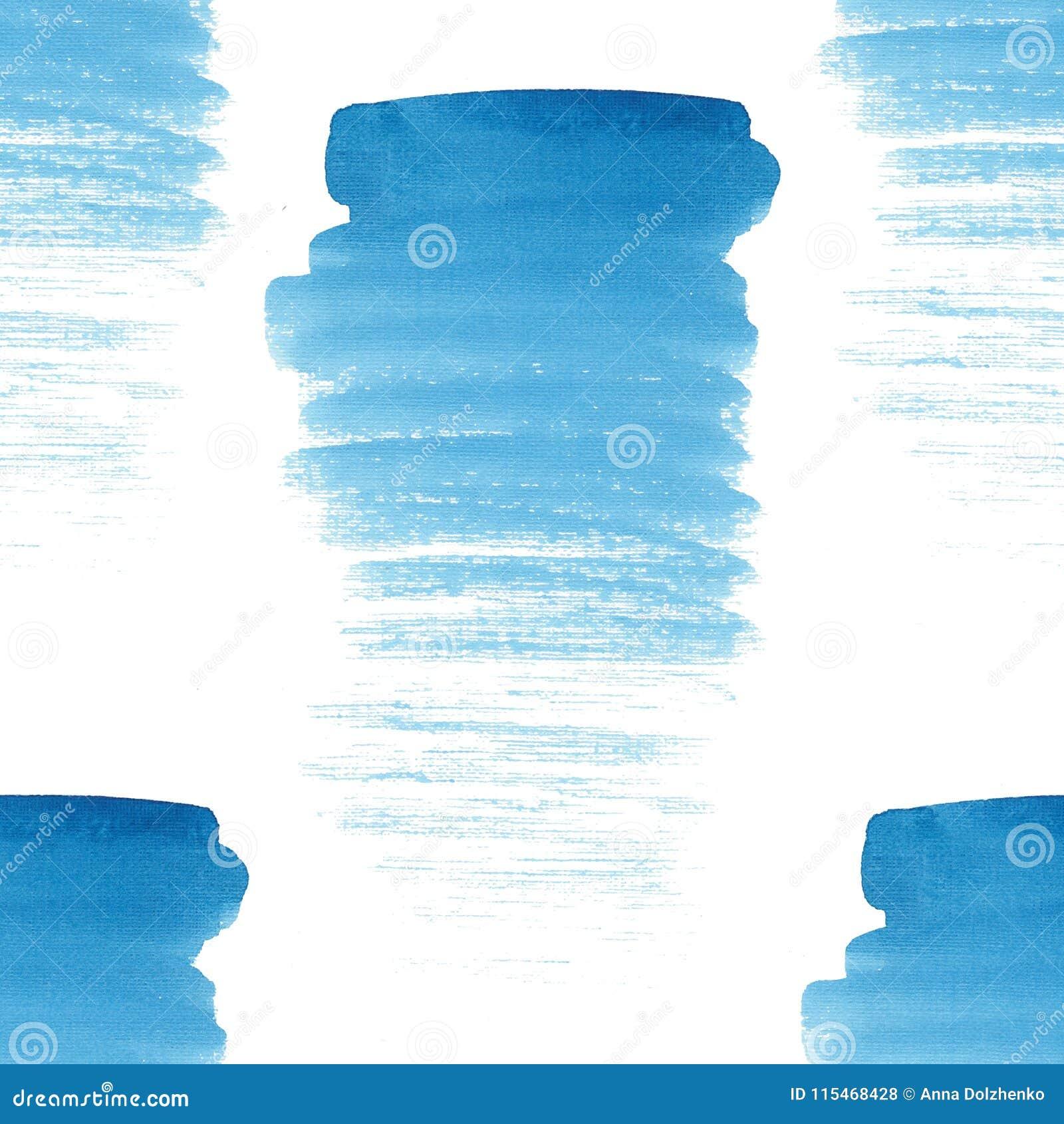 Abstract beautiful artistic tender wonderful transparent bright summer blue spots pattern watercolor hand illustration