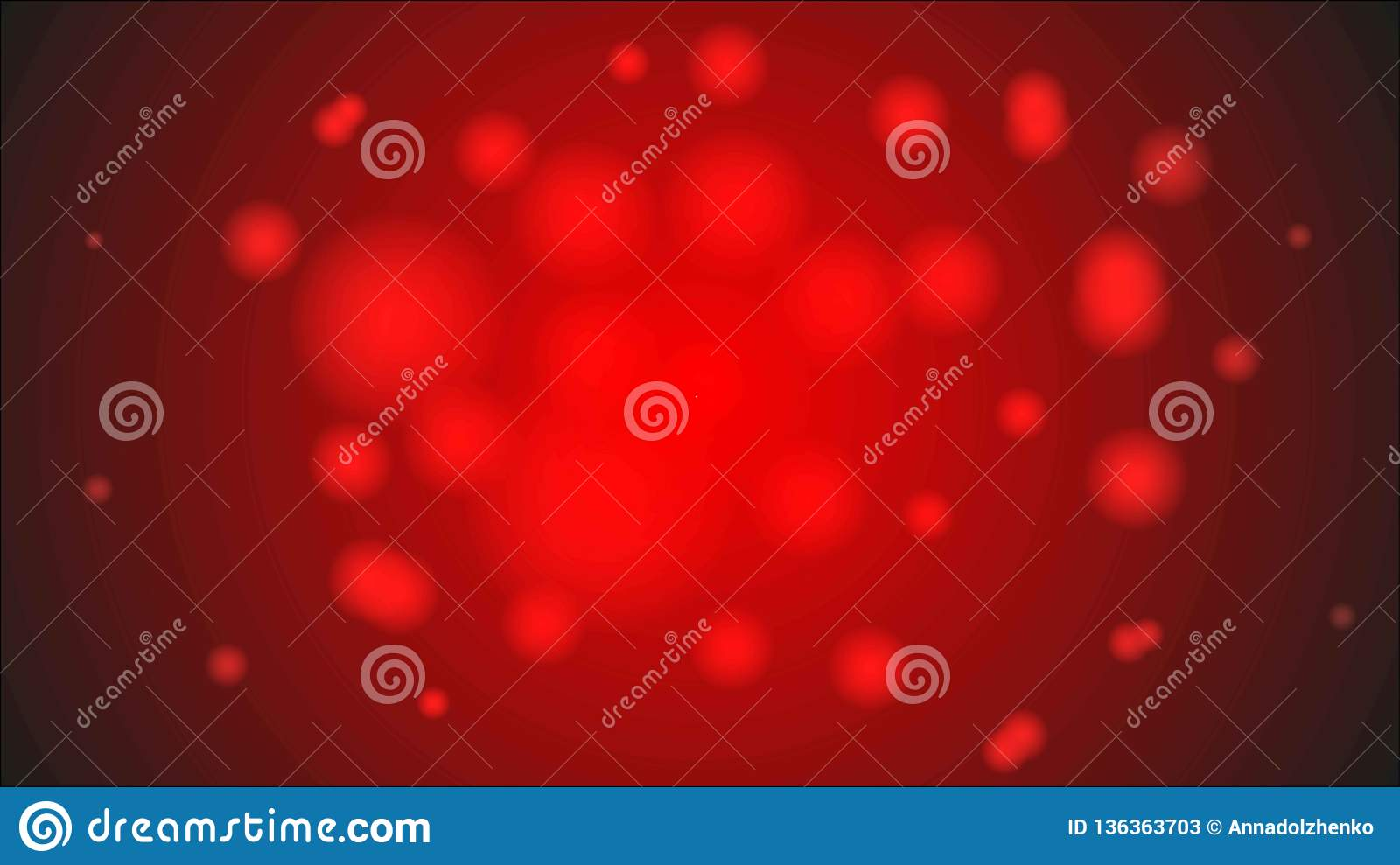 Abstract beautiful bright transparent textured vintage spring summer red background on Valentine`s Day vector
