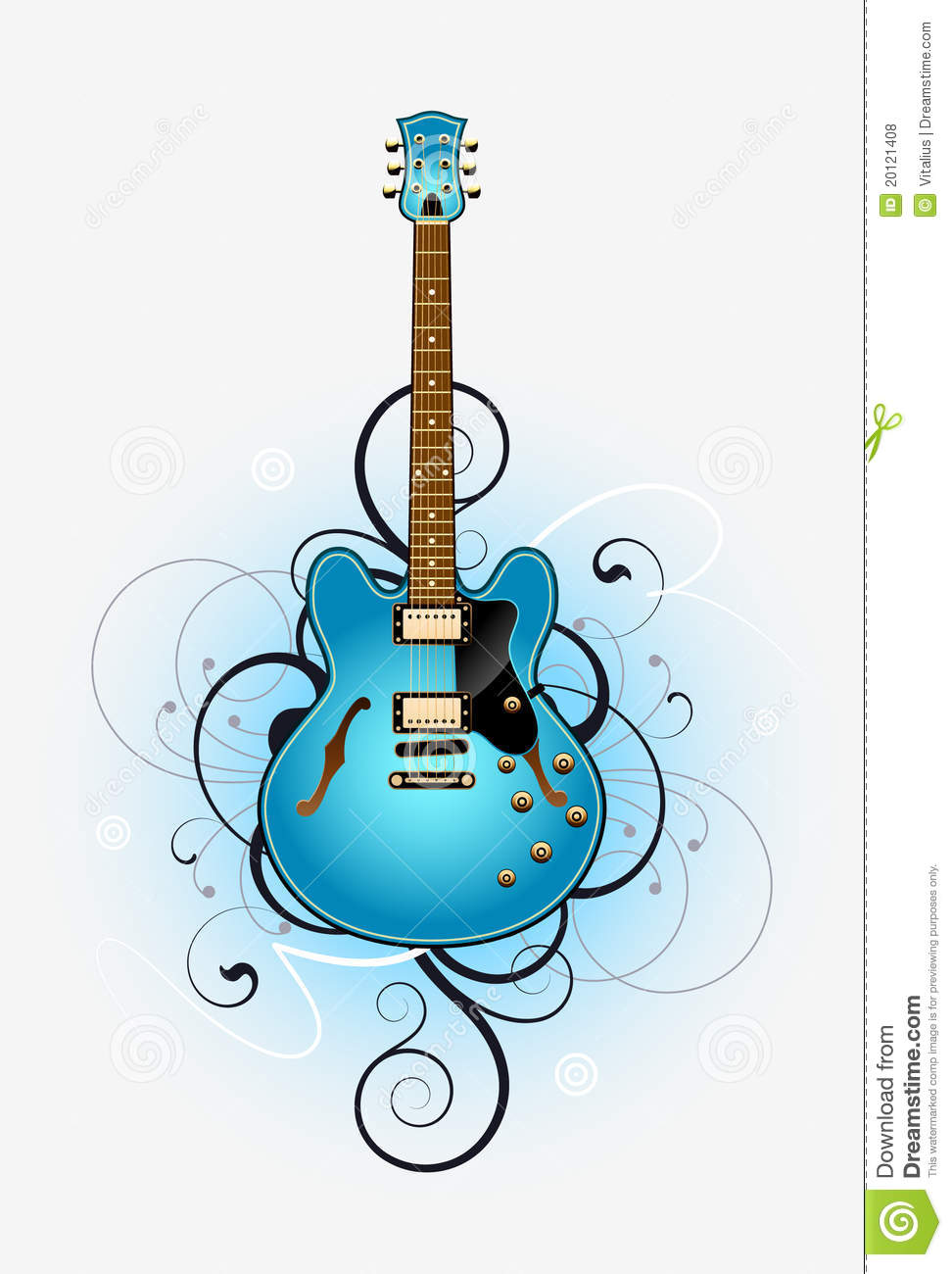 Abstract With Beautiful Electric Guitar