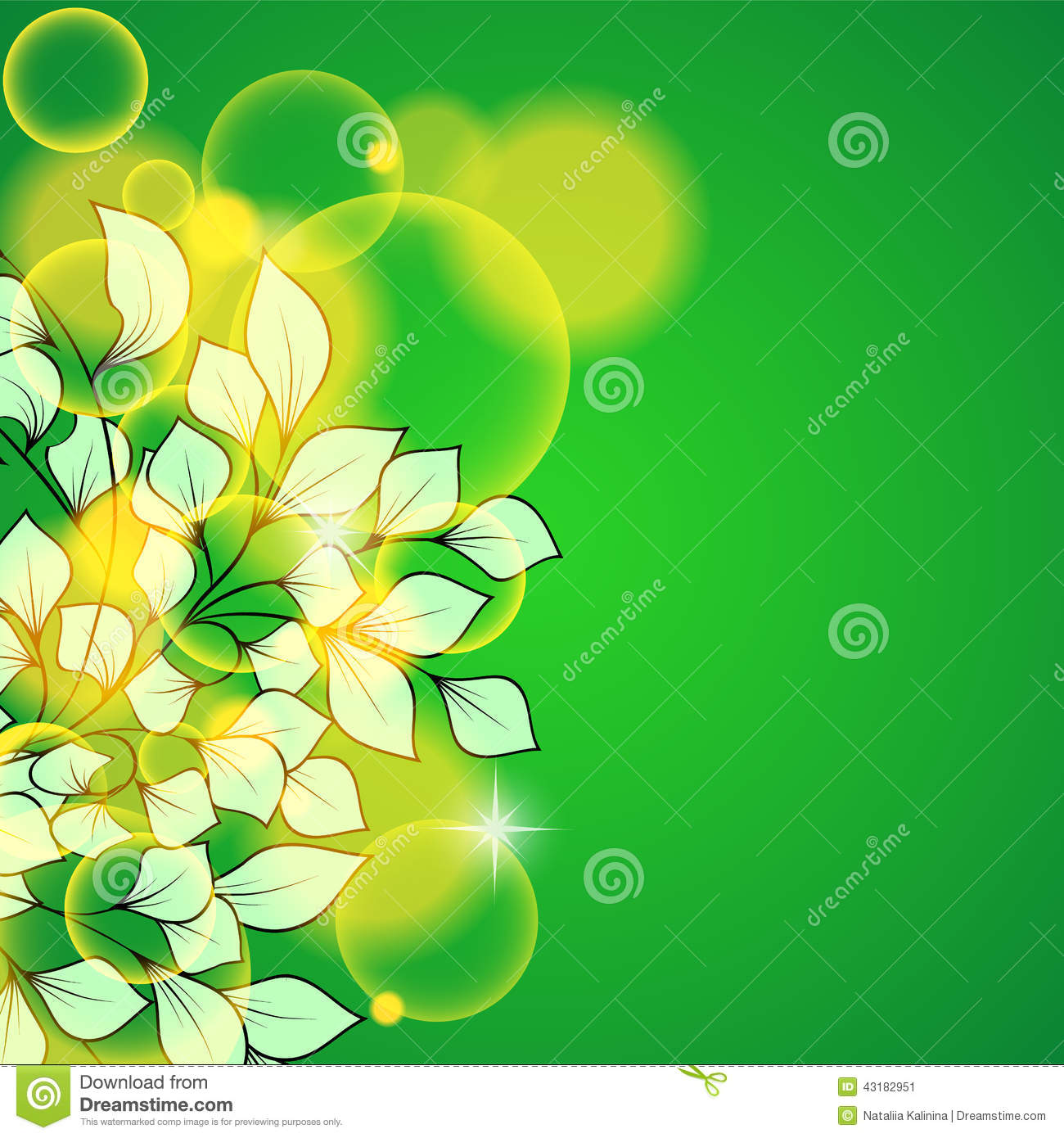 abstract beautiful green floral background stock vector
