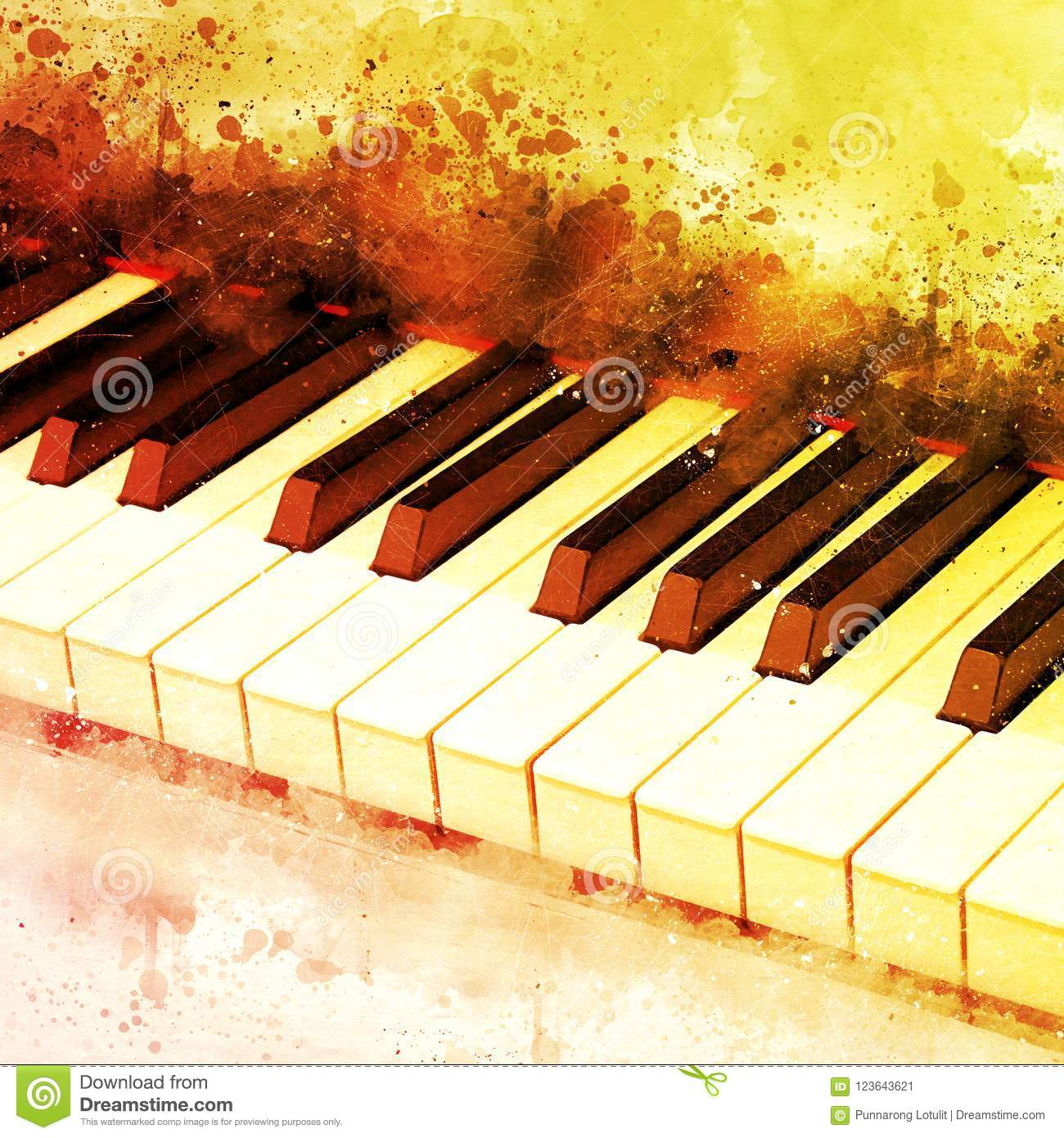 abstract beautiful hand playing keyboard of the piano stock image image of watercolor piano. Black Bedroom Furniture Sets. Home Design Ideas