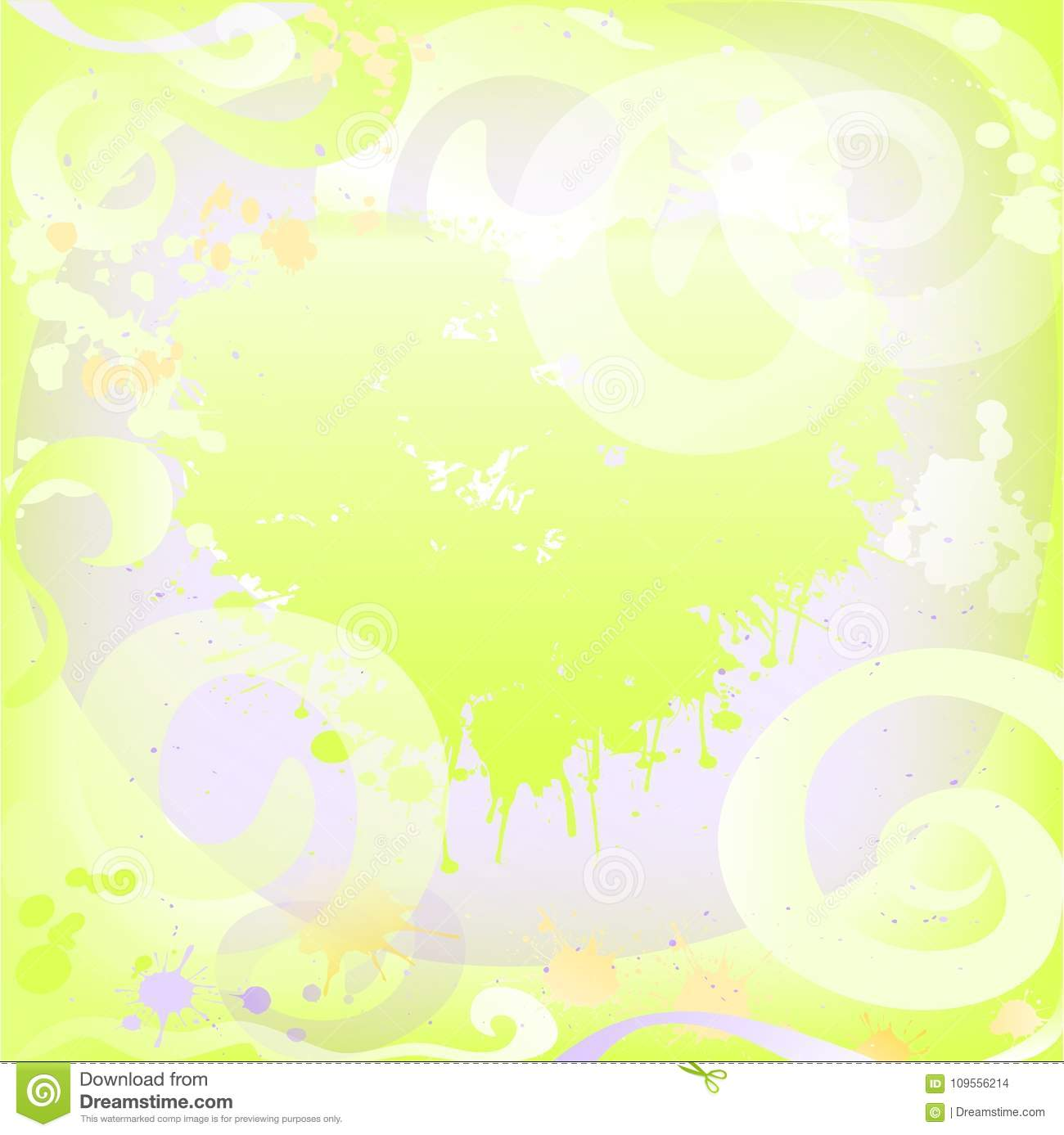Abstract spring and summer background with swirls .Flyer . Banner. Cover.