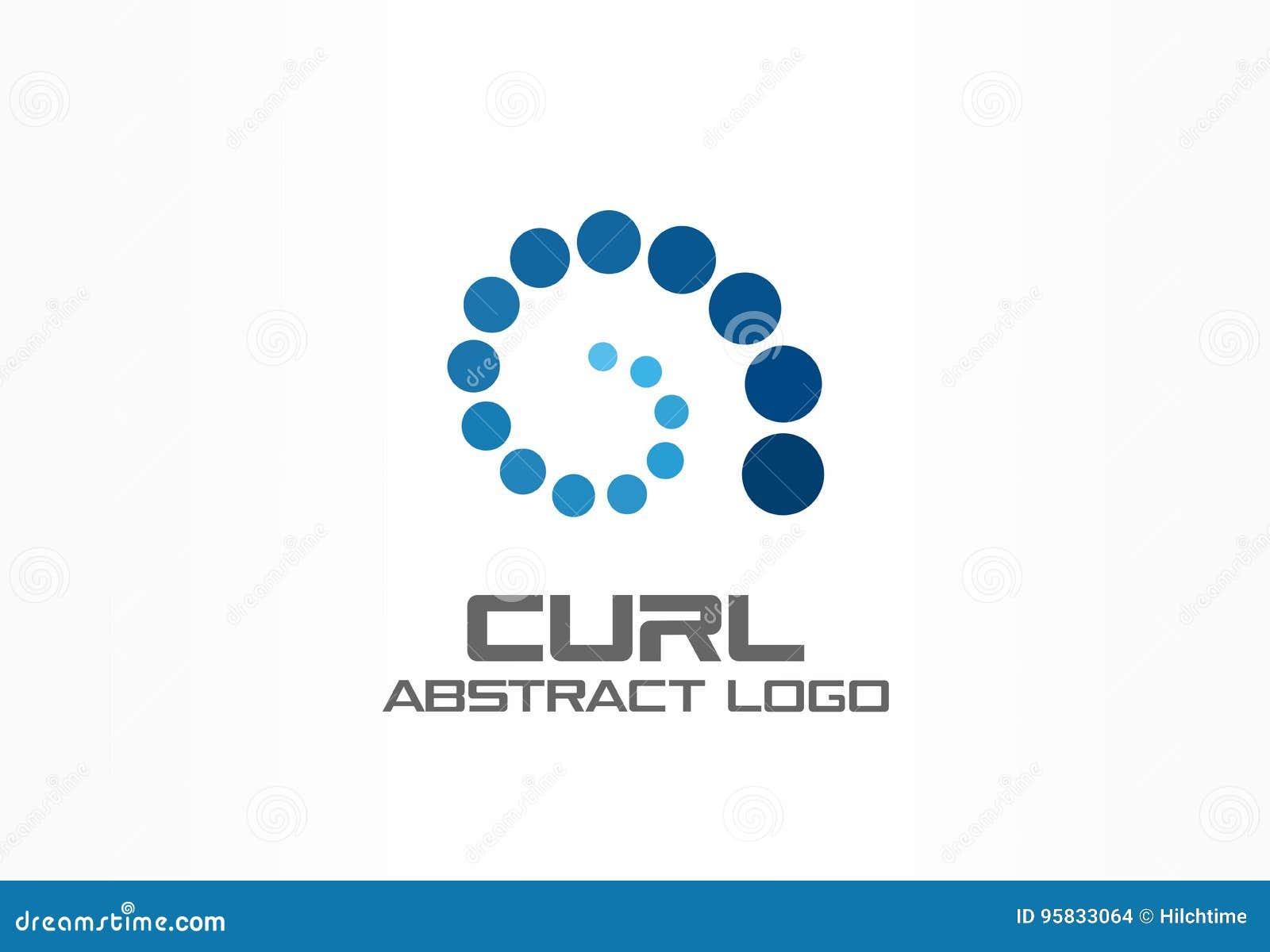 Abstract bedrijfembleem De sociale media, de groei, Internet verbinden logotype idee Ladings spiraalvormige groep, werveling