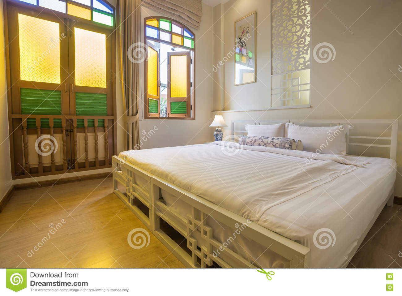 Enjoyable Abstract Bedroom In Warm Light Colors Big Comfortable Home Interior And Landscaping Staixmapetitesourisinfo