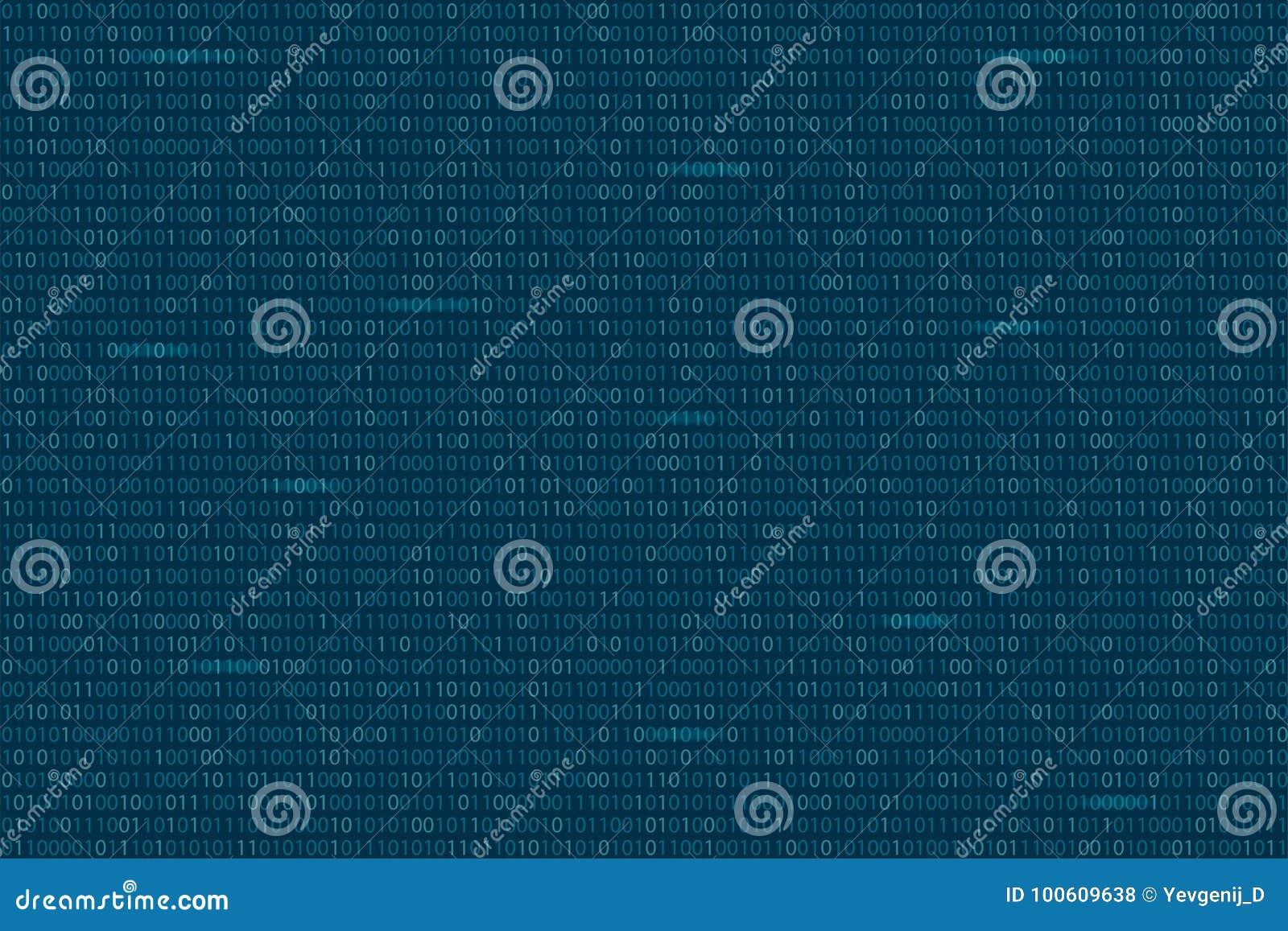 Abstract Binary Code Background Digital Technology Wallpaper Password Blue