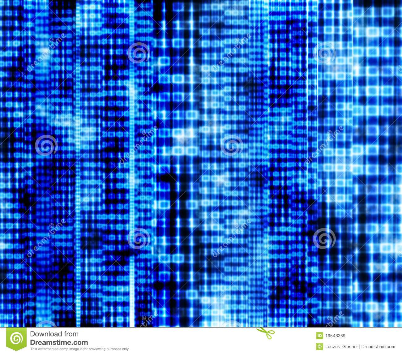 abstract binary code blue digital screen stock illustration