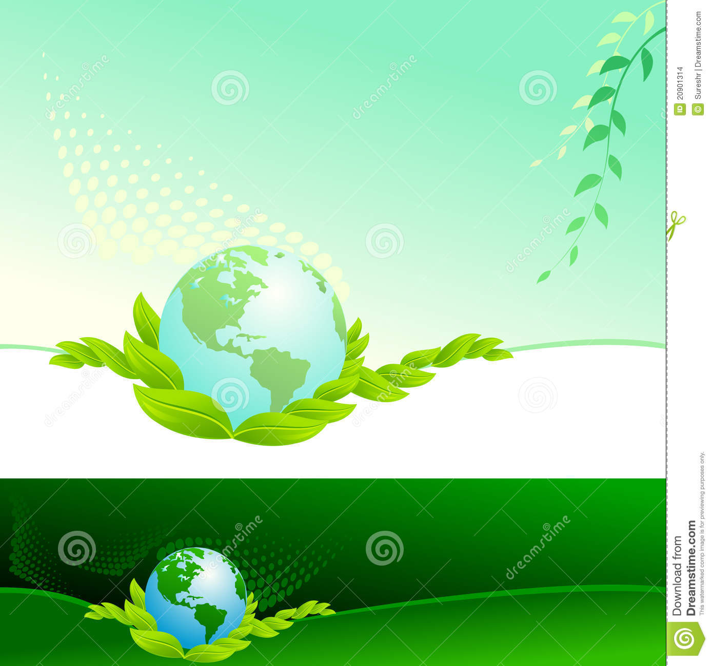 abstract bio green globe vector background stock vector