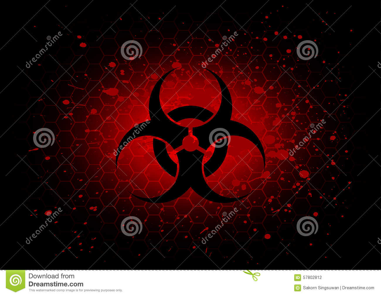 Abstract biohazard symbol dark red background stock vector abstract biohazard symbol dark red background biocorpaavc Images