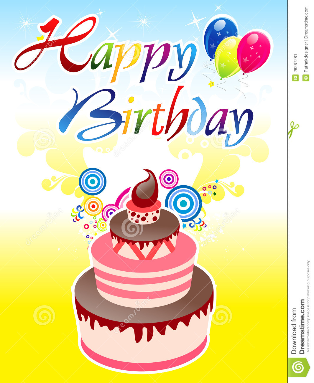 More similar stock images of ` Abstract birthday background `