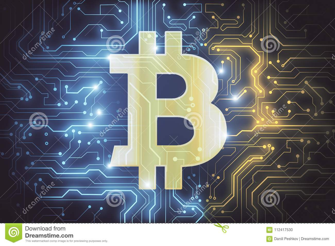 Abstract Bitcoin Wallpaper Stock Illustration Illustration Of Glowing 112417530