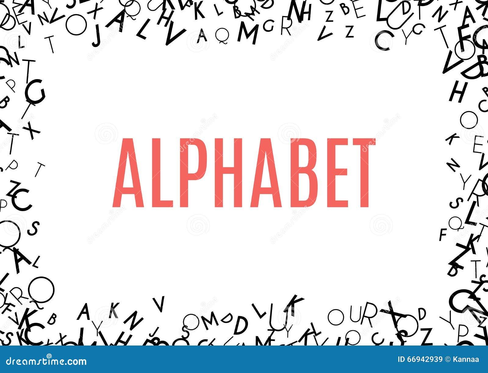 Abstract Black Alphabet Ornament Frame On White Background Stock ...