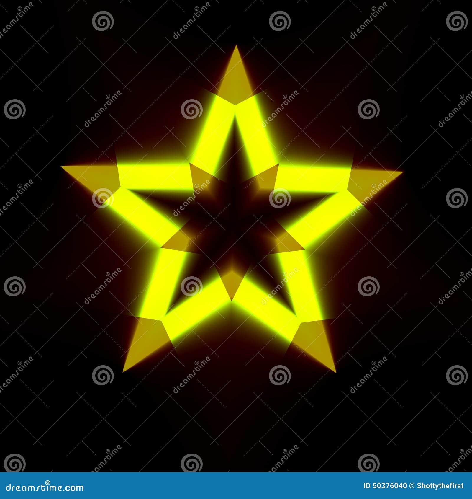 Abstract Black Background With Light Star Shape. Dark Digital ...