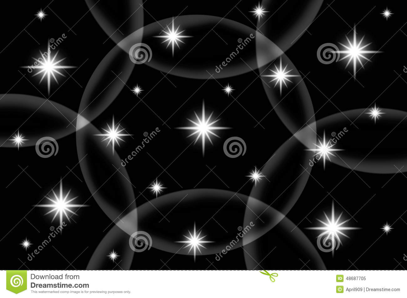 Abstract Black Color Background With Star Stock Illustration All Backgrounds Color