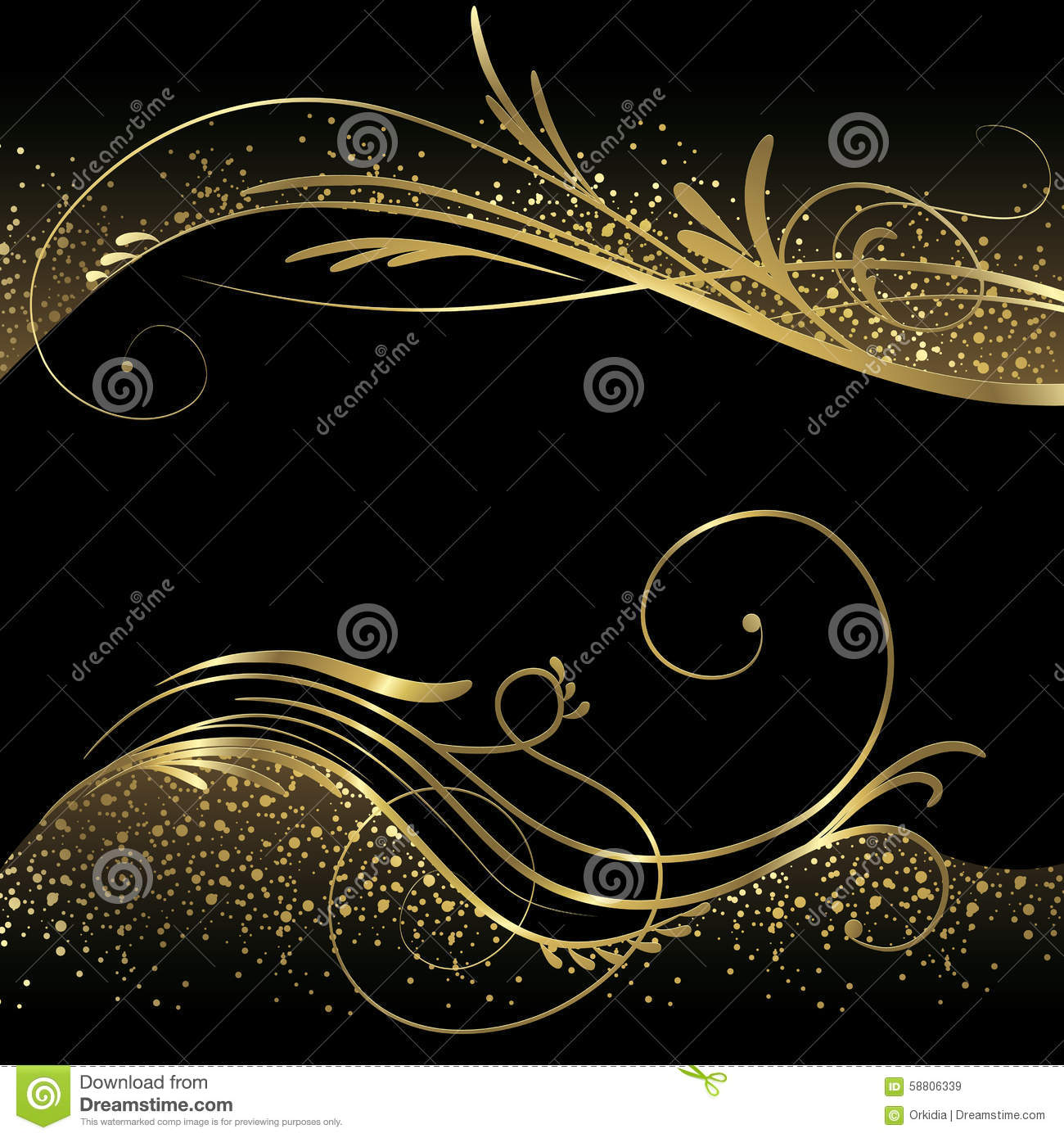 Abstract Black And Gold Background Stock Vector - Image ...