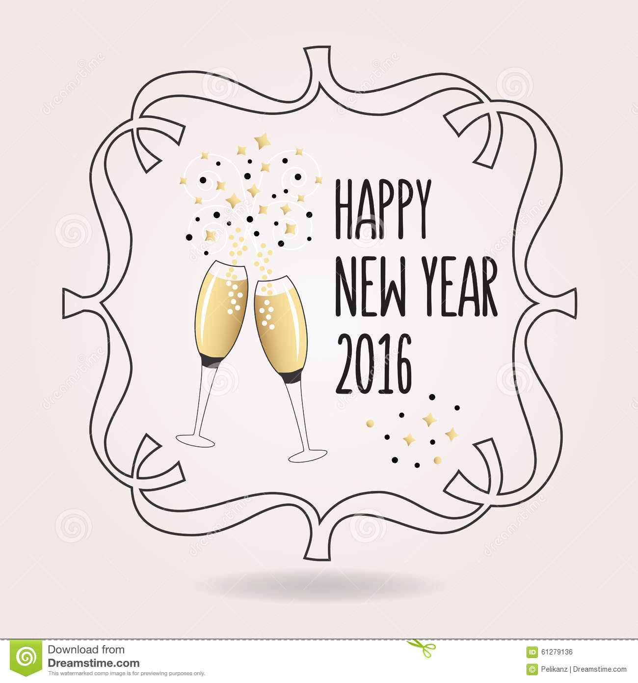 Abstract Black And Golden Happy New Year 2016 Cheers Icon Stock ...